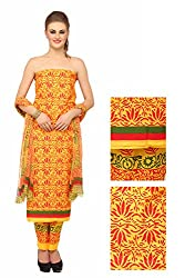 Chippa Studio Women Cotton Dress Material (Cs2007 _Multi-Coloured)