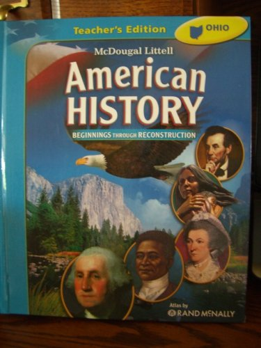 American History Beginning Through Reconstruction. Teacher's Edition, by Rand Mcnally