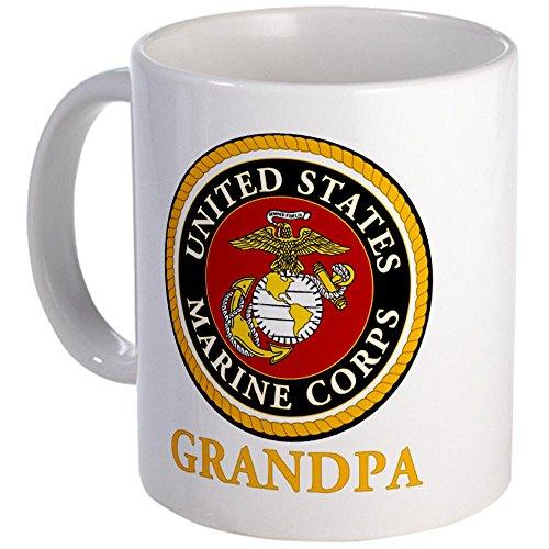 Cafepress Usmc Grandpa Mug - S White