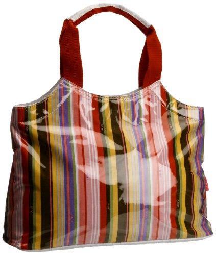 Lulu Australia Fashion Park Stripe Typical French Bag, Borsa a mano donna Rosso Red/ Blue Stripe