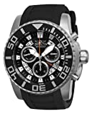Invicta Pro Diver Swiss Made Men's Quartz Watch with Black Dial Chronograph Display and Black PU Strap 14671