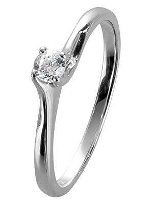 trendor White Gold Diamond Ring 35238