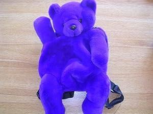 Purple Teddy Bear Plush Toy Child's Preschool Back Pack
