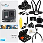 GoPro HERO Action Camera + 32GB Bundle 12PC Accessory Kit. Includes 32GB MicroSD Card + Reader + Head Strap + Chest Strap + Micro HDMI Cable + Handheld Monopod + Premium Rugged Hard Case + Bobber Handle + Gripster + Memory Card Wallet + Microfiber Cleaning Cloth