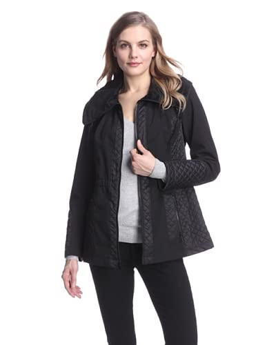 Jones New York Women's Mix Media Jacket  - Black