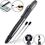 Tactical Stylus Pen, BonyTek Self Defense Tactical Survival Pen, Phone Tablet Stylus Pen with Ballpoint Pen, Tungsten Steel Glass Breaker, 5-in-1 Emergency Multi Tools, Extra 2 Refills, Gift Box