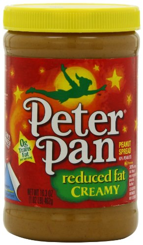 Peter Pan Reduced Fat Creamy Peanut Spread, 16.3-Ounce Jars (Pack of 12) (Peanut Butter Alternative compare prices)