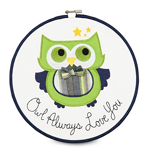 "Pavilion Gift Company 38191 Embroidered Wall Covering, 9-1/2"", Owl Always Loves You"