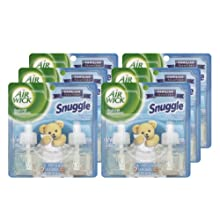 Air Wick Scented Oil Air Freshener, Snuggle Fresh Linen Twin Refills, 0.67 Ounce (6  packs of 2)