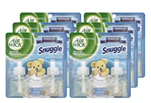Air Wick Scented Oil Air Freshener Refill, Snuggle Fresh Linen, 0.67 Ounce (6 packs of 2)