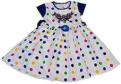 Be BeBo Girl's cotton Regular Fit Dress(533, Blue, 2-3yrs)