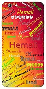 Hemali (Coated With Gold) Name & Sign Printed All over customize & Personalized!! Protective back cover for your Smart Phone : Moto G-4
