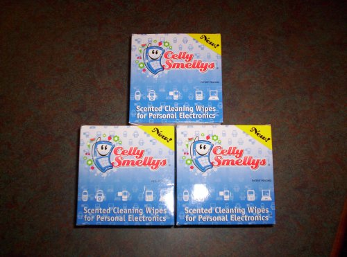 Celly Smellys Scented Cleaning Wipes for Personal Electronics -6/15 ct Berry