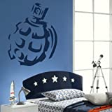 Giant Grenade - Wall Transfer / Boys Army Decor / Bedroom Interior Sticker RA116