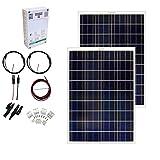 Grape Solar GS-200-CKIT-A 200W Solar Charging Kit for 12/24V Battery Banks