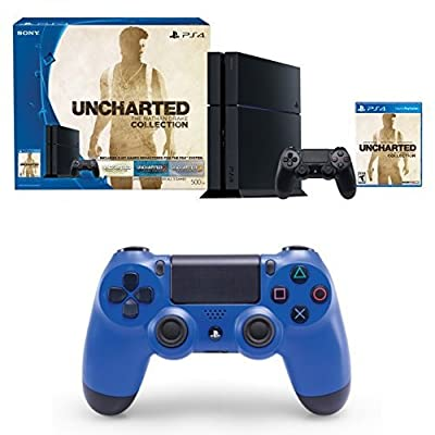 PlayStation 4 500GB Console - Uncharted: The Nathan Drake Collection Bundle with DualShock 4 Controller
