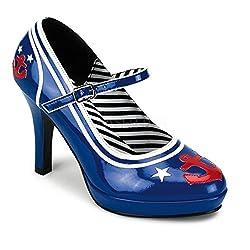 4 inch Heel Blue Patent