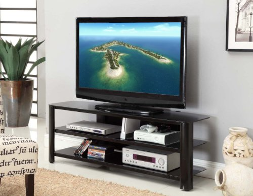 Innovex Oxford TV Stand 58 Inch Black Get Lowes