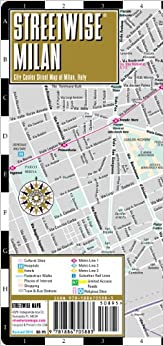 Map of Milan, Italy - Folding pocket size travel map with metro map