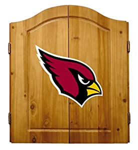 Buy NFL Arizona Cardinals Solid Pine Cabinet And Bristle Dartboard Set by Imperial