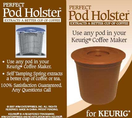 Perfect Pod Holster Use Any Pod in Your Keurig