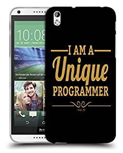 Snoogg I Am A Unique Programmer Designer Protective Back Case Cover For HTC 816