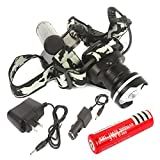 T6 LED CREE XML 1600Lm Rechargeable Zoomable Headlamp Headlight 18650+Charger