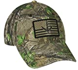 Realtree Xtra Green Cap with Turkey Print on American Flag