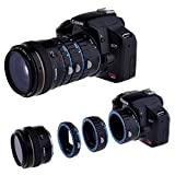 Neewer? Macro AF Auto Focus Extension Tube Set 13-21-31mm Blue Bayonet and Black Body for Canon DSLR SLR Camera Canon EOS 1D C, 1D X, 1D Mark I-IV, I-1Ds Mark III, 5D Mark I-III, 6D 7D 60D 50D 40D 30D 20D 10D 1100D 1000D 650D 600D 550D 500D 450D 400D 350