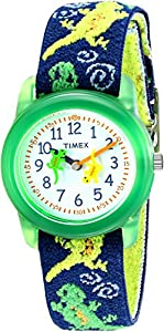 "Timex Kids' T72881 ""Lizards"" Watch with Multi-Colored Fabric Band"