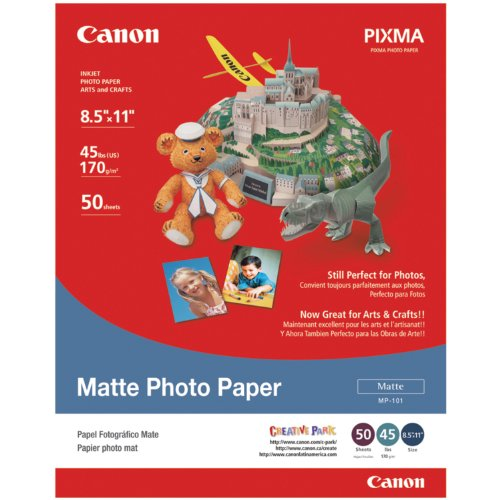 Canon Matte Photo Paper, 8.5 x 11 Inches, 50 Sheets (7981A004)