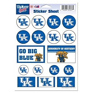 Buy NCAA Kentucky Wildcats 5'' x 7'' Sticker Sheet by WinCraft