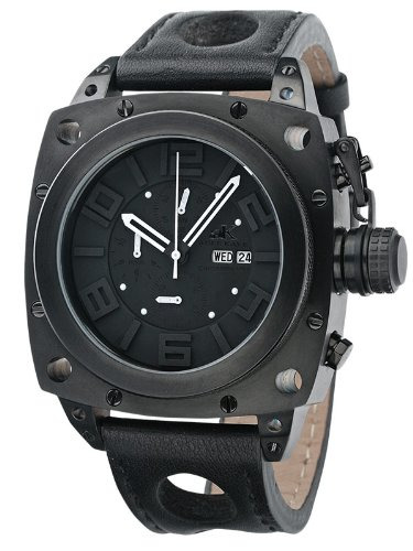 Adee Kaye Herrenuhr AK7270-MIPB Black/Black Chronograph