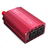 AUKEY 300W Power Inverter with Dual Outlets & Dual 2.4A USB Ports for Laptop, Tablet, Smartphone and more
