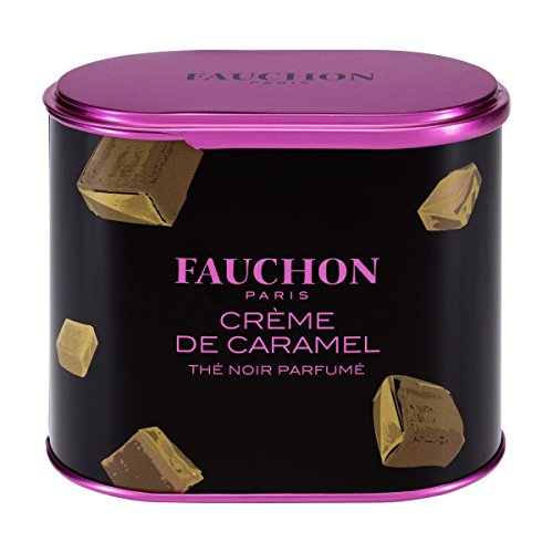 FAUCHON TEA PARIS - CREME CARAMEL Tea - Loose Tea (100gr TIN) wholesale dual dutch piece suit yixing tea tray ceramic ru ding black dragon tea