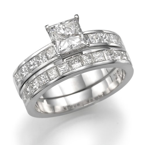 950 Platinum Princess Diamond Engagement Ring