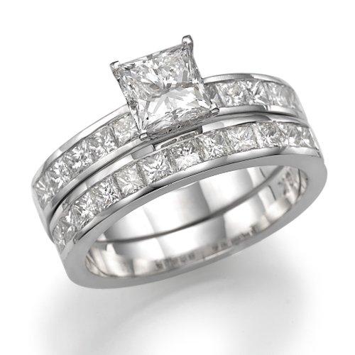 950 Platinum Princess Diamond Engagement Ring