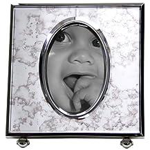 "Thomas O'Brien® Oval Antiqued Mirror Frame - 3x4"""