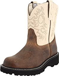 Ariat Women\'s Fatbaby Western Cowboy Boot, Earth/Bone, 9 M US