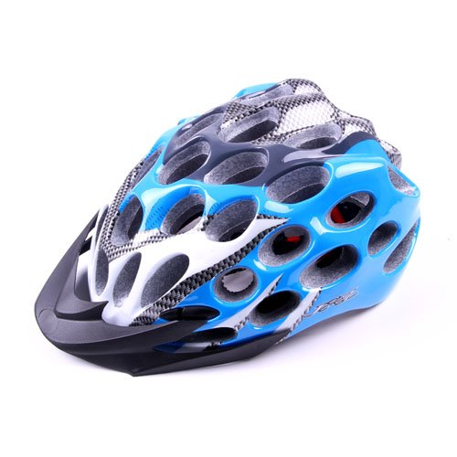 blue In-Mold Light Mount Road Bike Cycling Safety Adult Helmet 39 Vents L 22