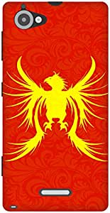 The Racoon Grip Phoenix hard plastic printed back case / cover for Sony Xperia L