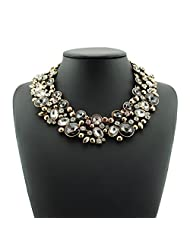 Cinderella Collection By Shining Diva Party Wear Full Crystal Choker Statement Necklace