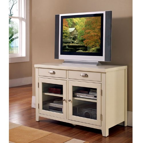 Cheap Kathy Ireland Home by Martin Furniture 41″ Tribeca Loft Wood Plasma TV Stand in White Finish (IMTW340)