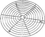 Kaiser 2300769431 Patisserie Kuchenauskühler rund, 32 cm, Metall verchromt