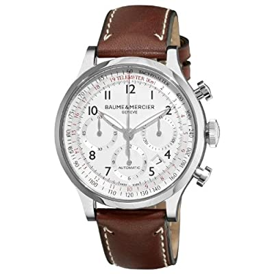 Baume & Mercier Men's 10000 Capeland Silver Chronograph Dial Watch