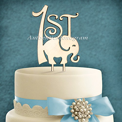 "6"" Wooden Painted Cake Topper ""1St Birthday"" Monogram, Anniversary, Birthday, Nursery, Baby, Newborn, Celebration, Special Occasion"