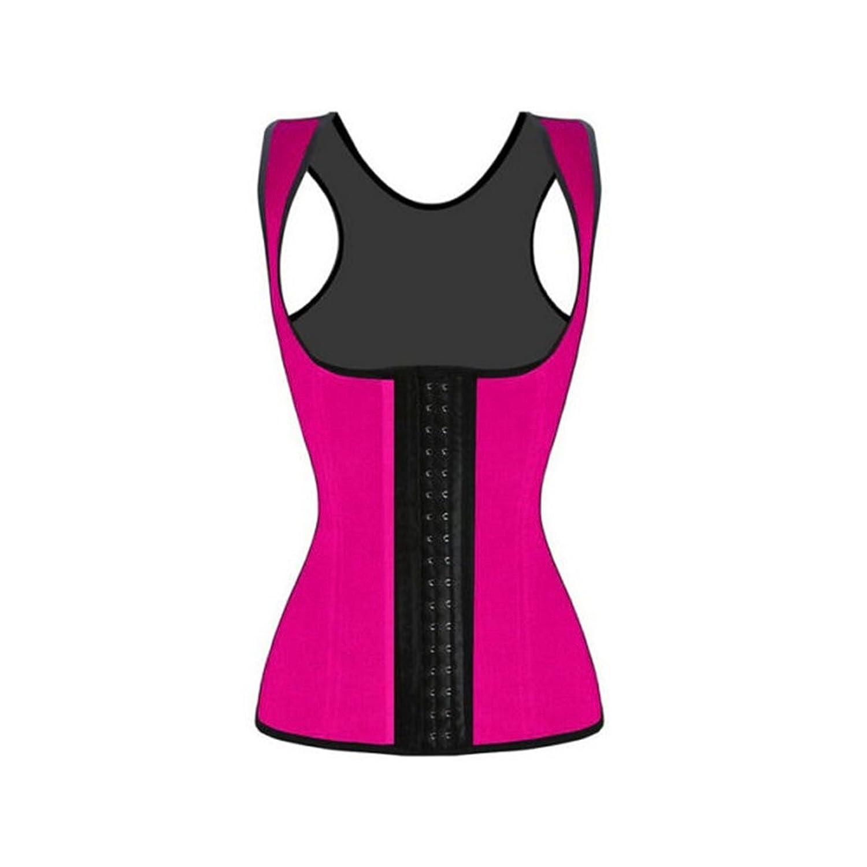 Pixnor Damen Weste Stil Latex Unterbrust Korsett Taille Trainer Cincher Body Shaper Shapewear - Größe XL (rosarot)
