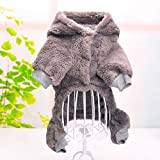Warm Soft Warm Halloween Pet Costume Totoro Lion Dog Clothes Puppy Cat Hoodie-Gray-M