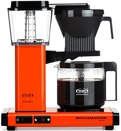Technivorm-Moccamaster KBG 741 10-Cup Coffee Brewer with Glass Carafe, Orange