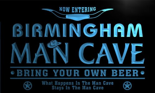 Adv Pro Pb2147-B Birmingham State Cities Man Cave Cowboys Bar Neon Light Sign